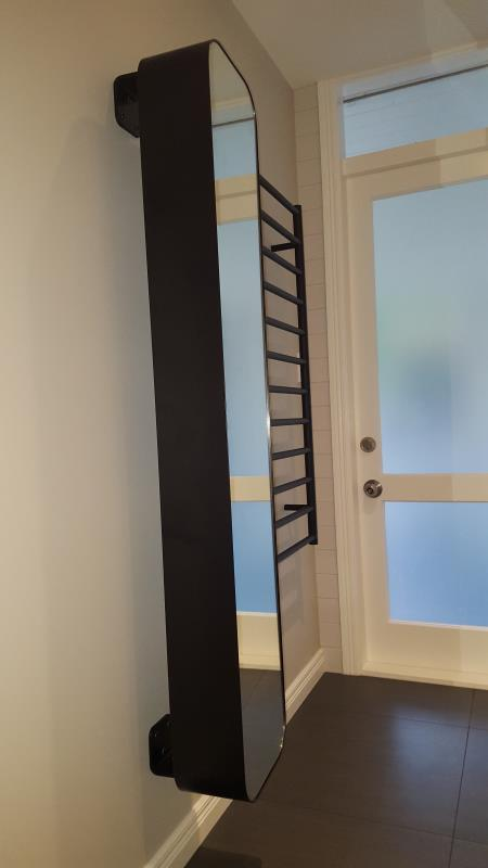 Mirror and Heated Towel Rail