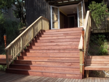 Deck Stairs & Cabana